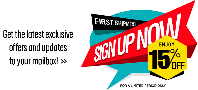 Sign up to enjoy 15% off